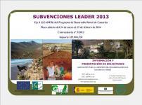 ABIERTA CONVOCATORIA DE AYUDAS LEADER Nº 5/2013